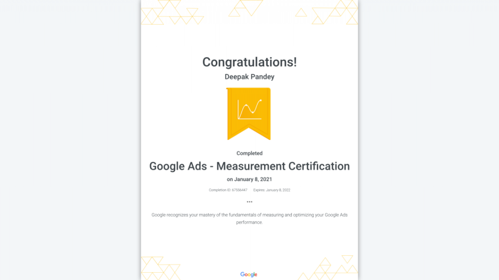Google Ads Measurement Certification